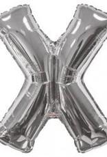 """34"""" Silver Jumbo Letter X Balloon"""