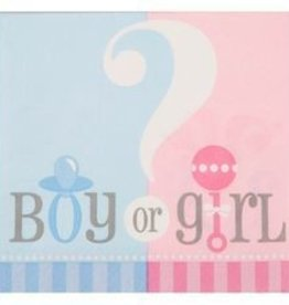 20 count Gender Reveal Napkins