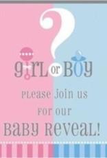 8 GENDER REVEAL INVITES baby shower
