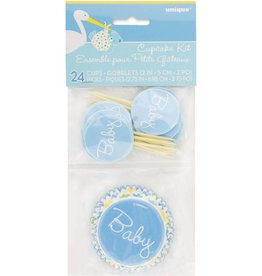 24 count Baby STORK CUPCAKE KIT baby shower