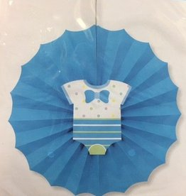 Blue Decorative Fan baby shower
