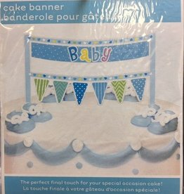 Blue Cake Banner Baby Shower
