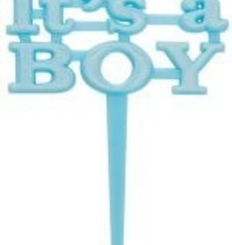 It's A Boy Plastic Cake Top Baby Shower
