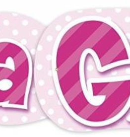 Giant It's A Girl Banner 4.47FT baby shower