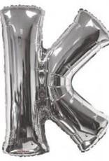 """34"""" Silver Jumbo Letter K Balloon"""