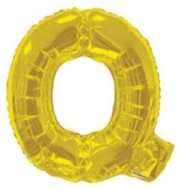 "34"" Gold Jumbo Letter Q Balloon"
