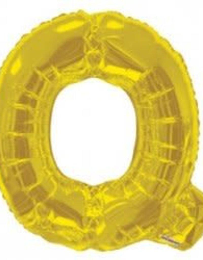 """34"""" Gold Jumbo Letter Q Balloon"""