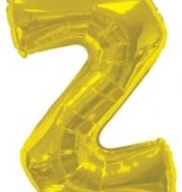 "34"" Gold Jumbo Letter Z Balloon"
