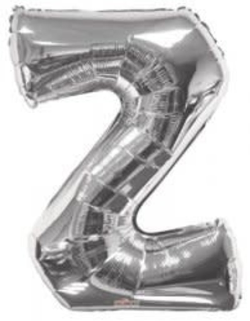 "34"" Silver Jumbo Letter z Balloon"