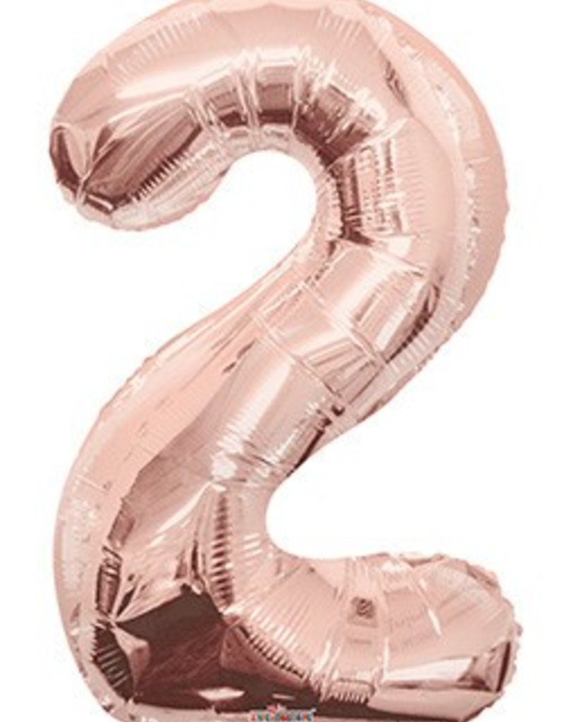 "34"" Rose Gold Jumbo Number 2 Balloon"