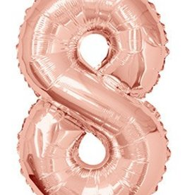 "34"" Rose Gold Jumbo Number 8 Balloon"