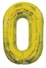"""34"""" Gold Jumbo Number 0 Balloon"""