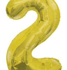 "34"" Gold Jumbo Number 2 Balloon"