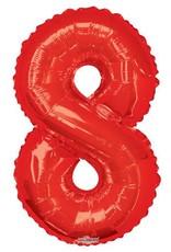 """34"""" Red Jumbo Number 8 Balloon"""