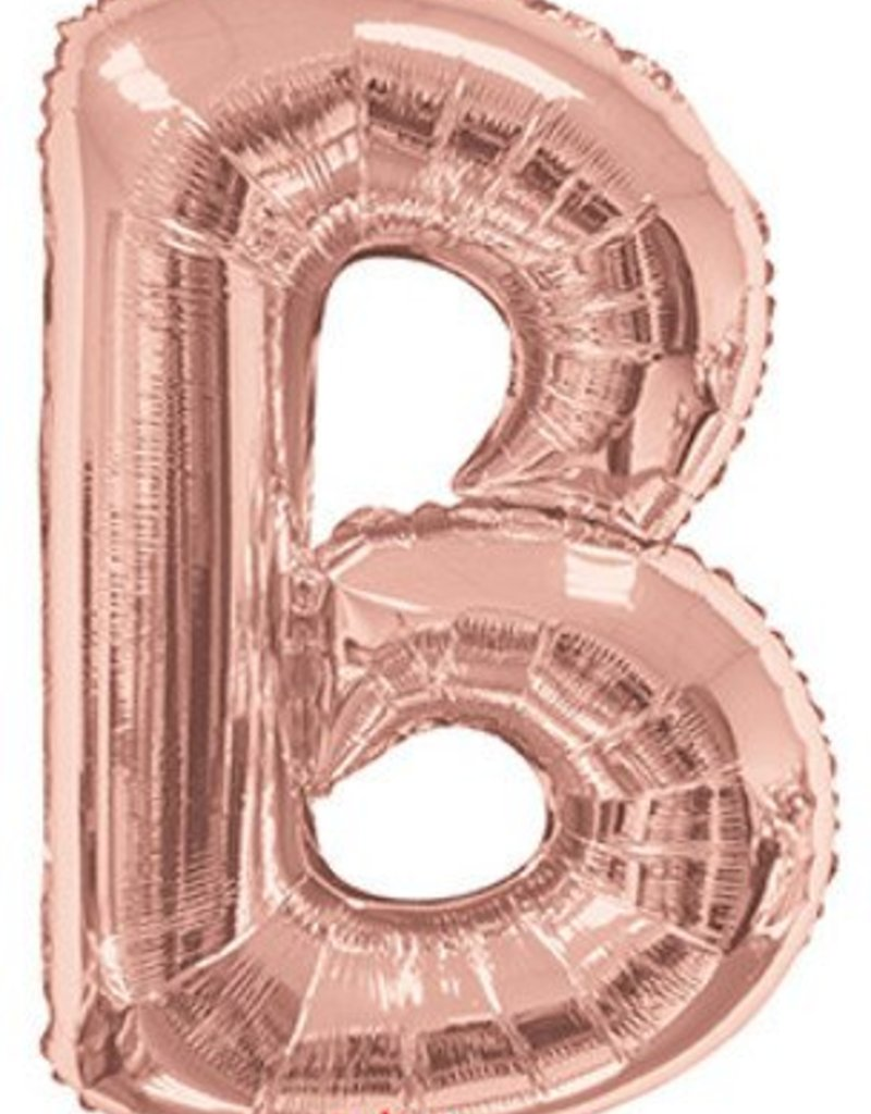 "34"" Rose Gold Jumbo Letter B Balloon"