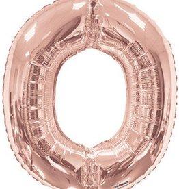 """34"""" Rose Gold Jumbo Letter O Balloon"""