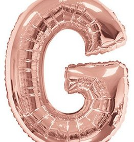 "34"" Rose Gold Jumbo Letter G Balloon"
