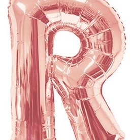 "34"" Rose Gold Jumbo Letter R Balloon"