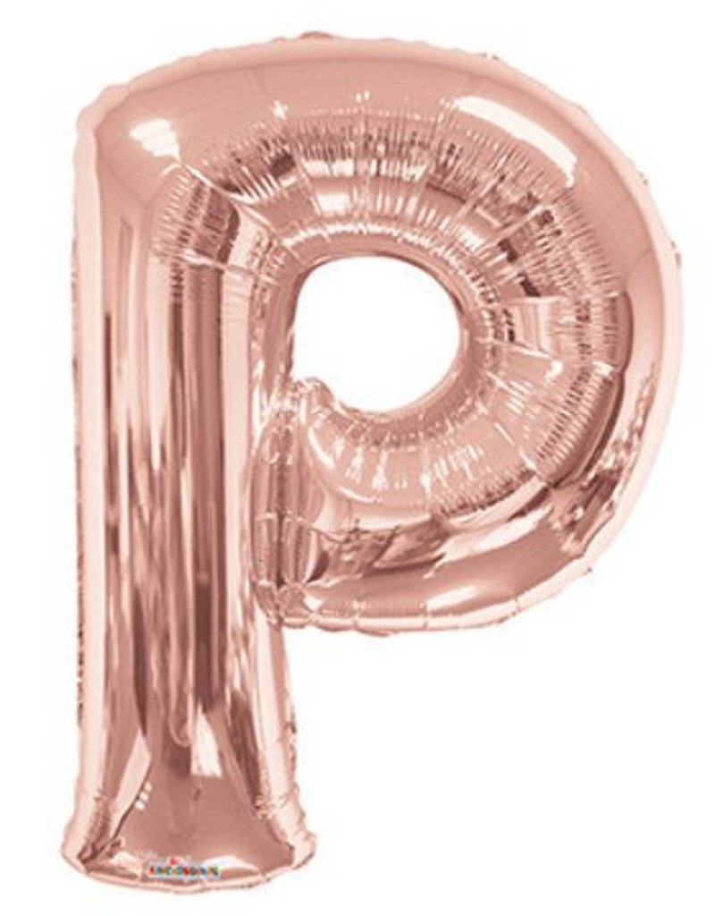 "34"" Rose Gold Jumbo Letter P Balloon"