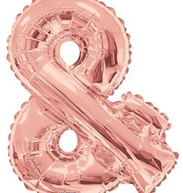 "34"" Rose Gold Jumbo Ampersand Balloon"