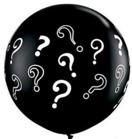 Giant Gender Reveal Confetti Balloon - Blue Fetti