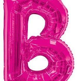 """34"""" Magenta Pink Jumbo Letter B Balloon"""
