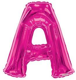 """34"""" Magenta Pink Jumbo Letter A Balloon"""