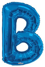 "34"" Royal Blue Jumbo Letter B Balloon"