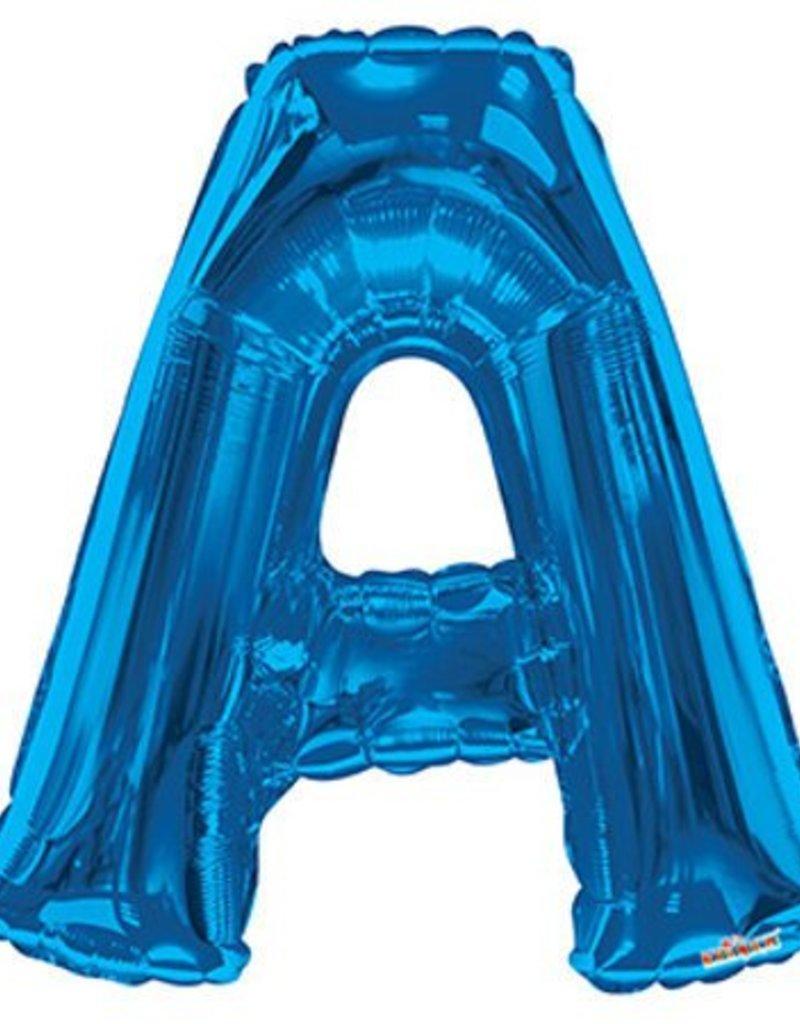 """34"""" Royal Blue Jumbo Letter A Balloon"""