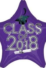 2018 Purple Graduation Star Balloon