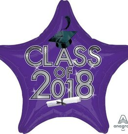 2018 Purple Graduation Star Balloon