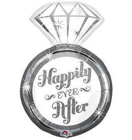 "27"" Happily Ever After Ring Supershape foil Balloon"