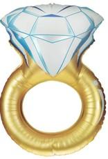 "37"" Gold Wedding Ring Foil Balloon"