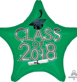 2018 Green Graduation Star Balloon