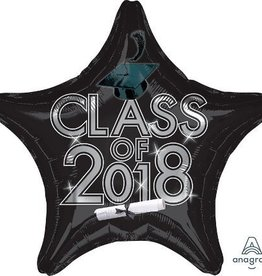 Black 2018 Graduation Star Balloon