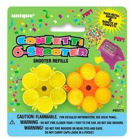 6 Round Confetti Shooter Refills