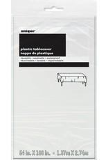 WHITE TABLE COVER 54X108-SPKG