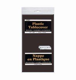 BLACK TABLE COVER 54X108-SPKG