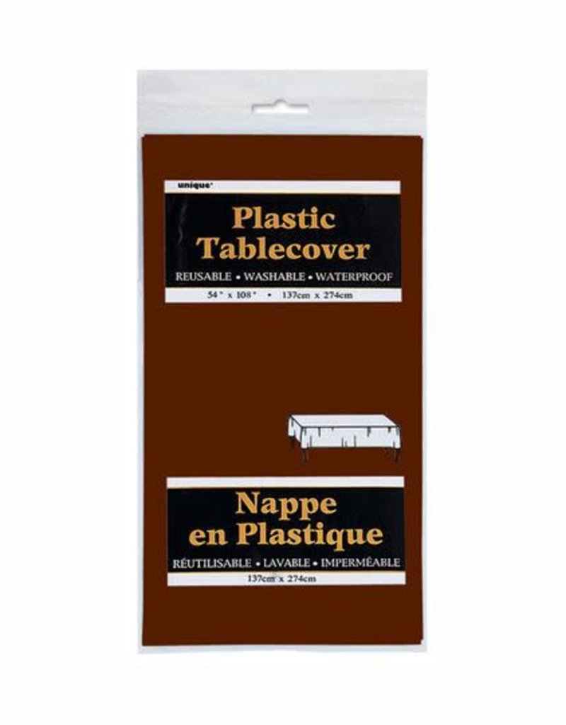 """BROWN TABLE COVER 54"""" X 108"""