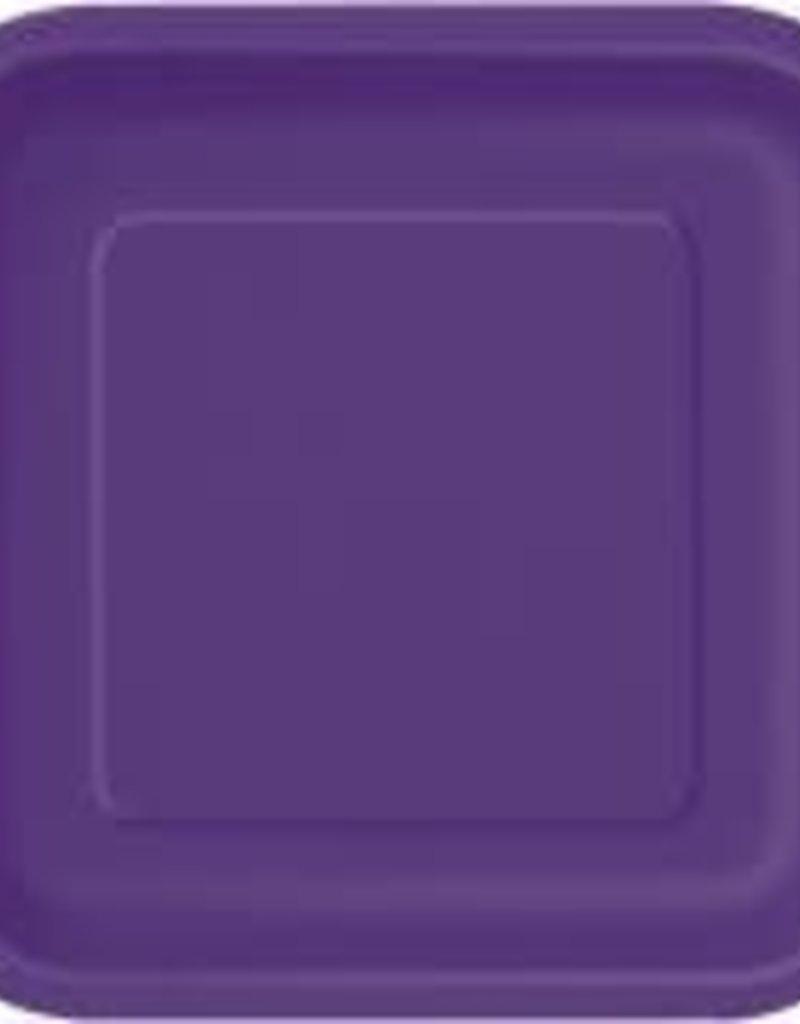 8.75 Dark Purple Square Paper Plates