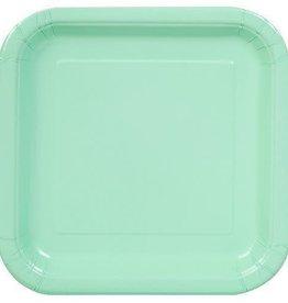 8.75 Mint Square Paper Plates