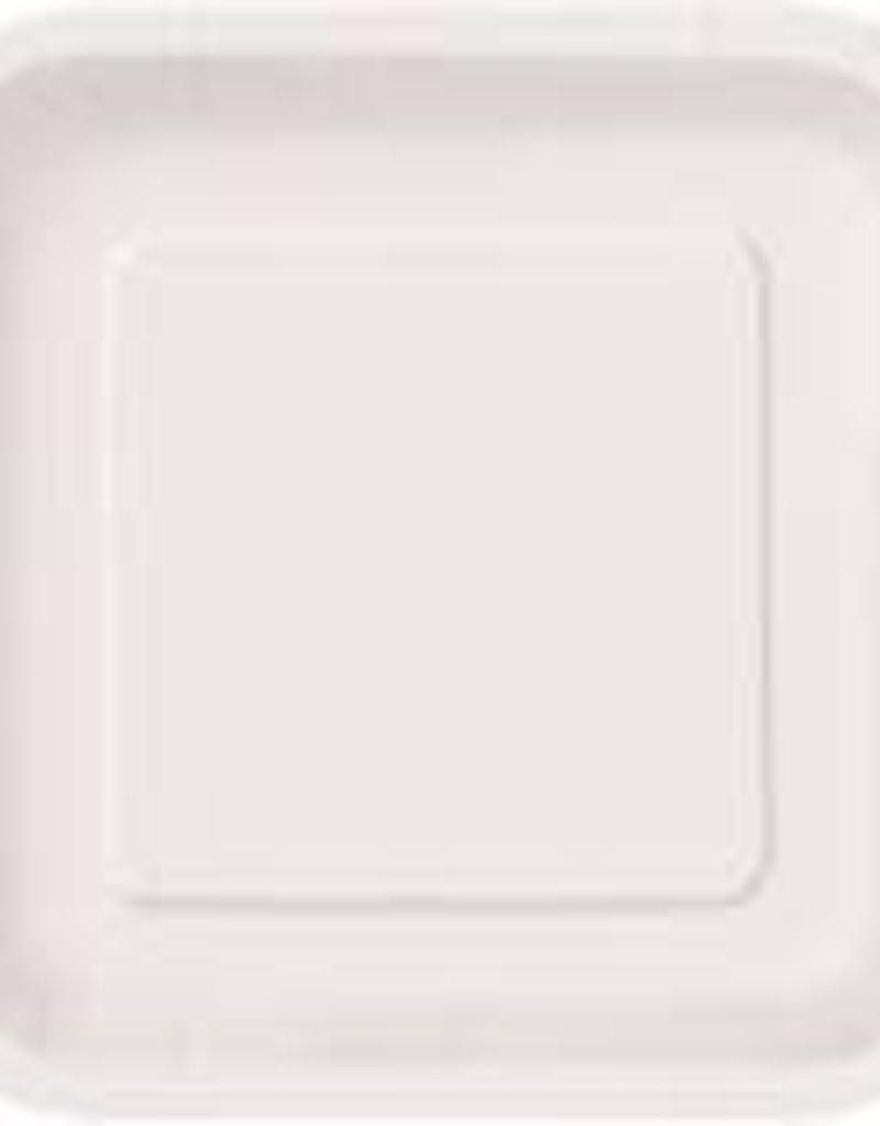 7inch White Square Dessert Plates