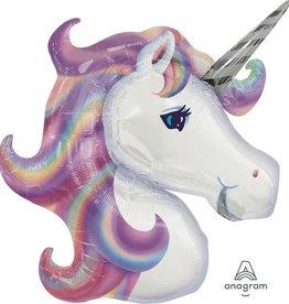 """32"""" Pastel Unicorn Foil Balloon Head"""