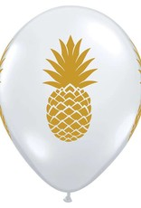 "11"" Clear Pineapple Helium Balloons"