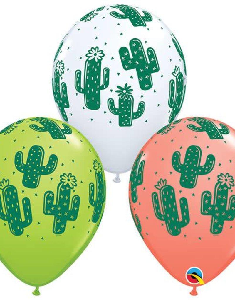 """11"""" Cactus Helium Balloons"""