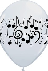 "11"" Music Notes Helium Balloons"