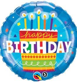 "18"" Blue Birthday Cake Foil Balloon"