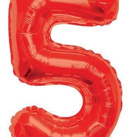 "34"" Red Jumbo Number 5 Balloon"