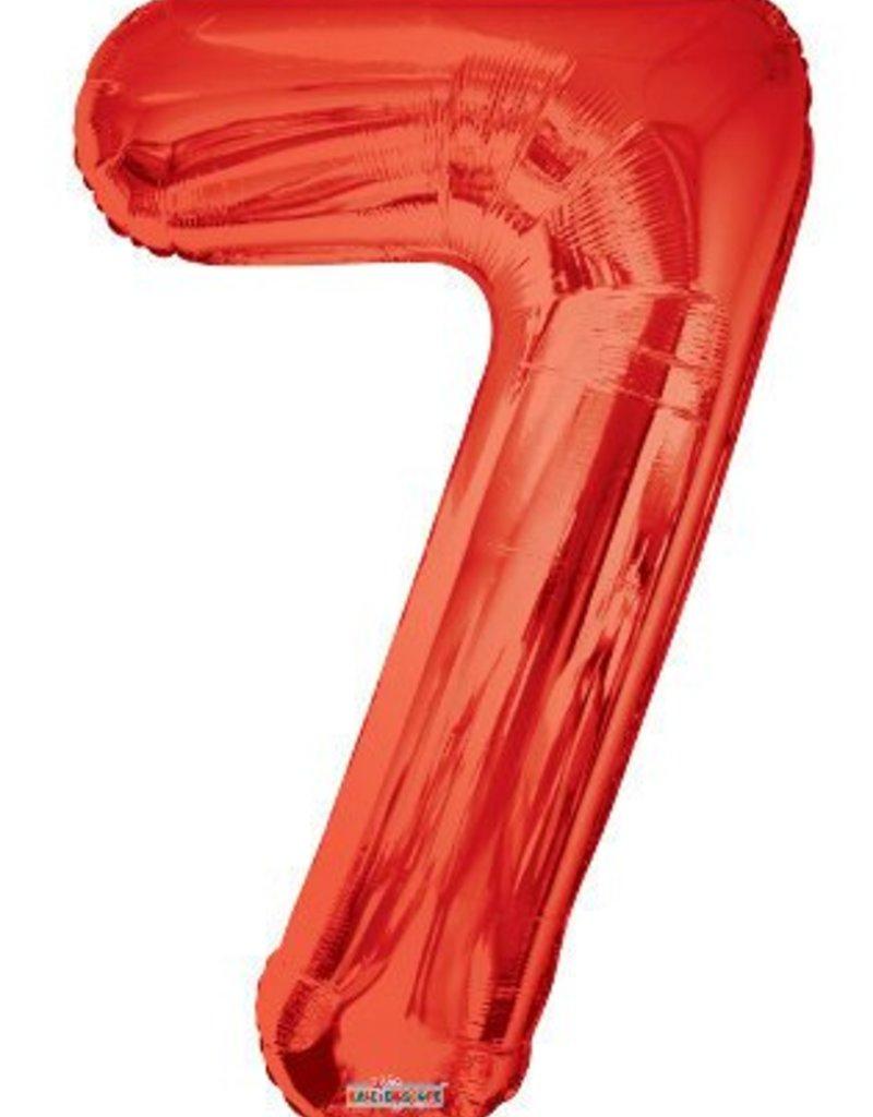 """34"""" Red Jumbo Number 7 Balloon"""