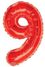 """34"""" Red Jumbo Number 9 Balloon"""